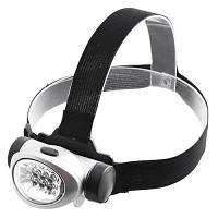 Фонарик BL-603-8, налобный фонарик, 4 режима работы: 2LED, 4LED, 8LED и стробоскоп