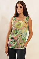 Красивая женская нарядная шифоновая майка-блуза