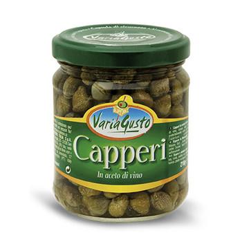 Каперсы в натуральном винном уксусе Capperi Verderosso Oro, 210 гр.