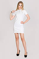 Белое платье женское Lacoste поло