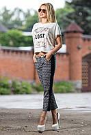 Модные капри из стрейч-катона 44-50 размеры