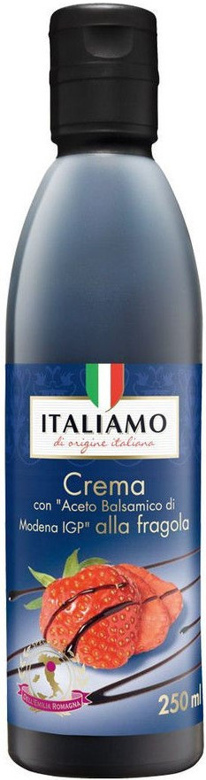 Бальзамический крем с клубничным соком Italiamo Creme Aceto Baisamico di Modena alla fragola, 250 гр.