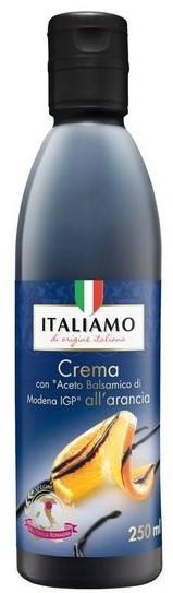Бальзамический соус-крем с апельсиновым соком Italiamo Creme Aceto Baisamico di Modena all oranga, 250 гр.
