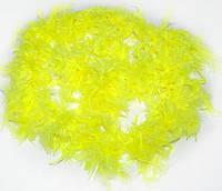 Боа перьевое эконом (желтое) 270216-133