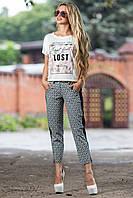 Модные капри из стрейч-катона 44-50 размеры, фото 1