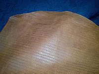 Натуральная кожа Нубук рыжий с плитой крокодила , фото 1