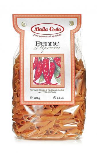 Итальянские макароны перышки с перцем Dalla Costa Penne, 500 гр.