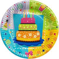 Тарелки праздничные Торт 6 шт 170216-096