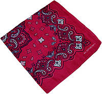 Бандана розовая с узором 020316-199
