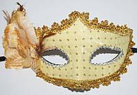 Маска венеция Фиора однотонная (Золото) 240216-348