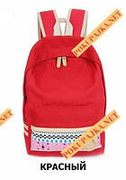 Стильный рюкзак Орнамент 123 в Наличии Красный Оригинал ,высококачественный,  фабричный!, фото 1