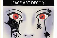 Наклейки на лицо паутина 15-189