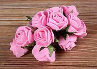 Букет роз из фомиарана (латекса) 2,5 см розовый