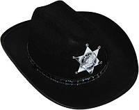 Шляпа детская Шерифа со звездой (черная) 170216-301