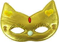 Маска детская Кошка ткань (золото) 240216-438