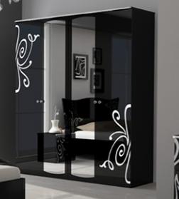 Шкаф 4Д Богема (зеркало)Миромарк