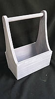 Фиолетовый деревянный ящик, 25х17х36 см 190/160 (цена за 1 шт. + 30 гр.)