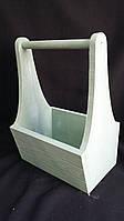 Ящик оливковый из дерева, 25х17х36 см 190/160 (цена за 1 шт. + 30 гр.)