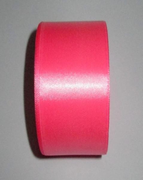 Лента атлас 4 см/1 м розовая