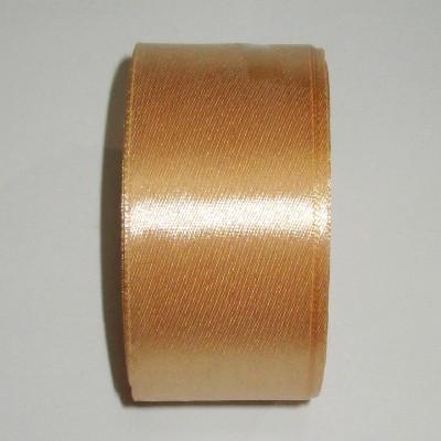 Лента атлас 4 см золотистая