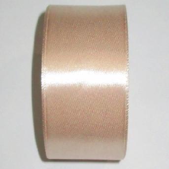Лента атлас 4 см/1 м бежевая