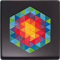 Grimm`s Мозаика магнитная Grimm`s Шестигранник из треугольников, 96 шт.