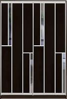"""Шафа-купе з фасадом """"КЛАСІК 1"""" 35/35 венге+зеркало"""
