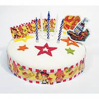 Набор для торта (флажки+свечки) Пират Джейк 1502-3242