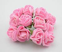 Букет роз из фомиарана (латекса) 2,5 см светло розовый