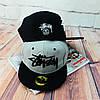 Серая кепка Stussy с черной надписью (реплика), фото 7