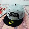 Серая кепка Stussy с черной надписью (реплика), фото 5
