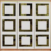Фасади з тонованих дзеркал з малюнками і кольорових глянцевих стекол