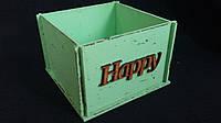 Салатовый ящик-кашпо (фанера) 13х13х9 см, 125/95 (цена за 1 шт. + 30 гр.)