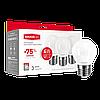 Набор LED ламп MAXUS G45 F 4W яркий свет 220V E27  (по 3шт.) (3-LED-5410) (NEW)