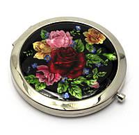 Зеркальце маленькое косметическое Розы