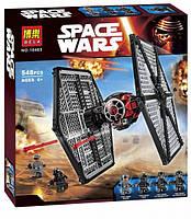 Конструктор Bela 10465 (реплика LEGO Star Wars 75101) TIE Истребитель особых войск Первого Ордена, 548 дет, фото 1