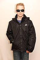 Куртка мужская в стиле Adidas D105M Black, фото 1