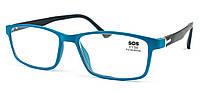 Очки для чтения «SOS» (унисекс) P 15159 +1,50, Mat Blue-Black