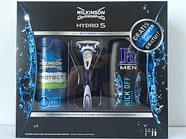 Набор для бритья  Wilkinson Sсhick Hydro 5 (Шик Вилкинсон станок + 1катридж + гель для бритья + гель для душа)