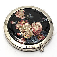 Зеркало красивое косметическое Розы