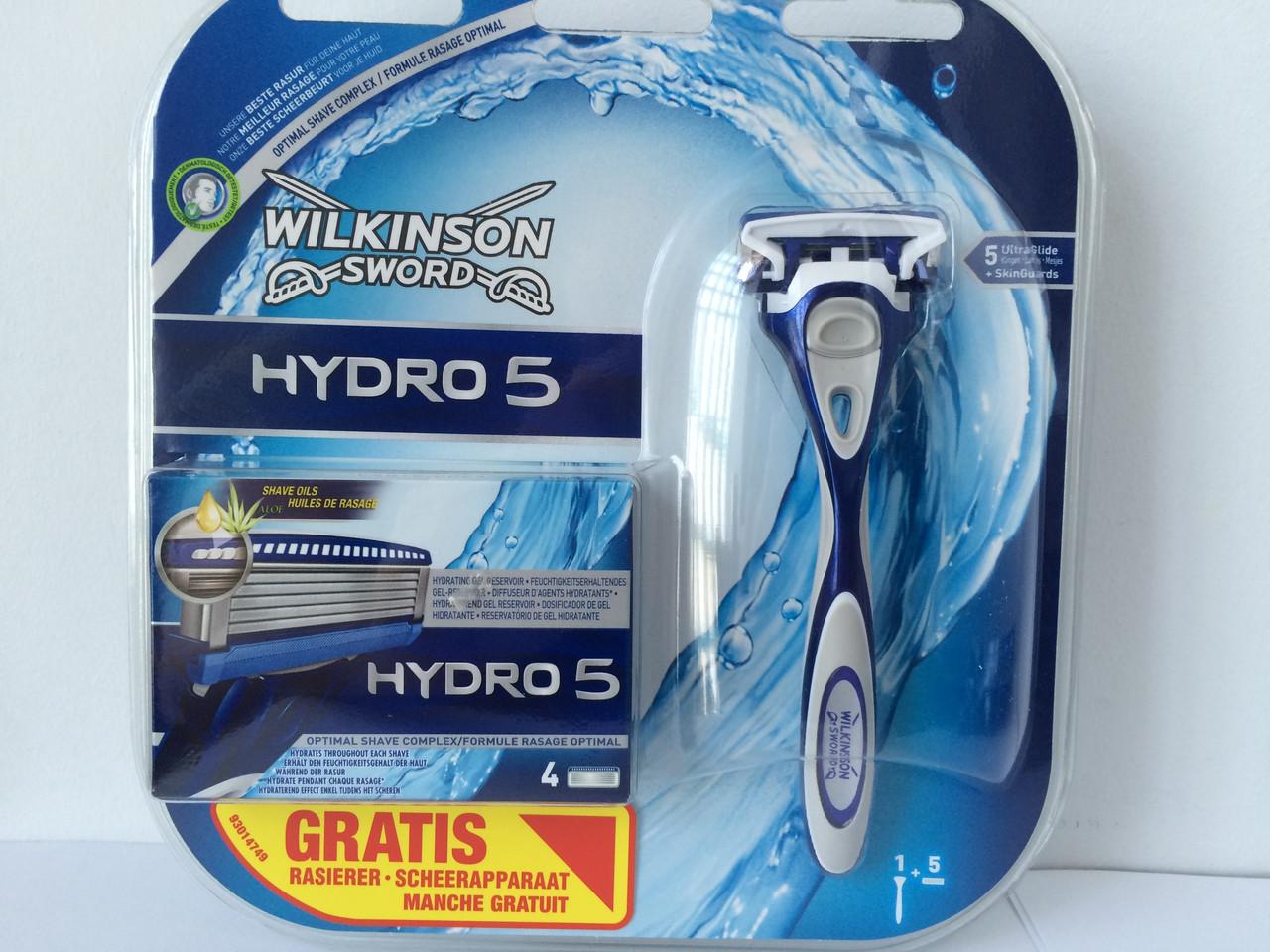 Набор для бритья мужской Wilkinson Sword Hydro 5 (Шик Вилкинсон станок + 5 катриджей) пр-во Германия