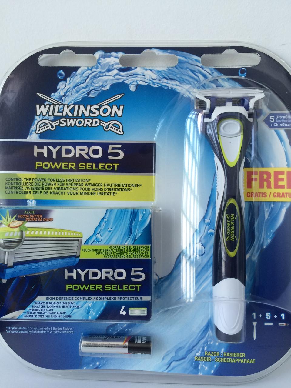 Набор для бритья мужской Wilkinson Sword Hydro 5 Power Schick Шик Павер станок + 5 катриджей пр-во Германия