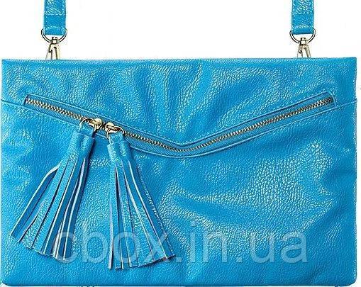 Летняя бирюзовая сумочка - клатч через плечо 57674