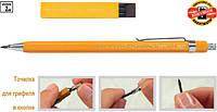 Цанговый карандаш koh-i-noor 5201, 2мм в металлическом корпусе