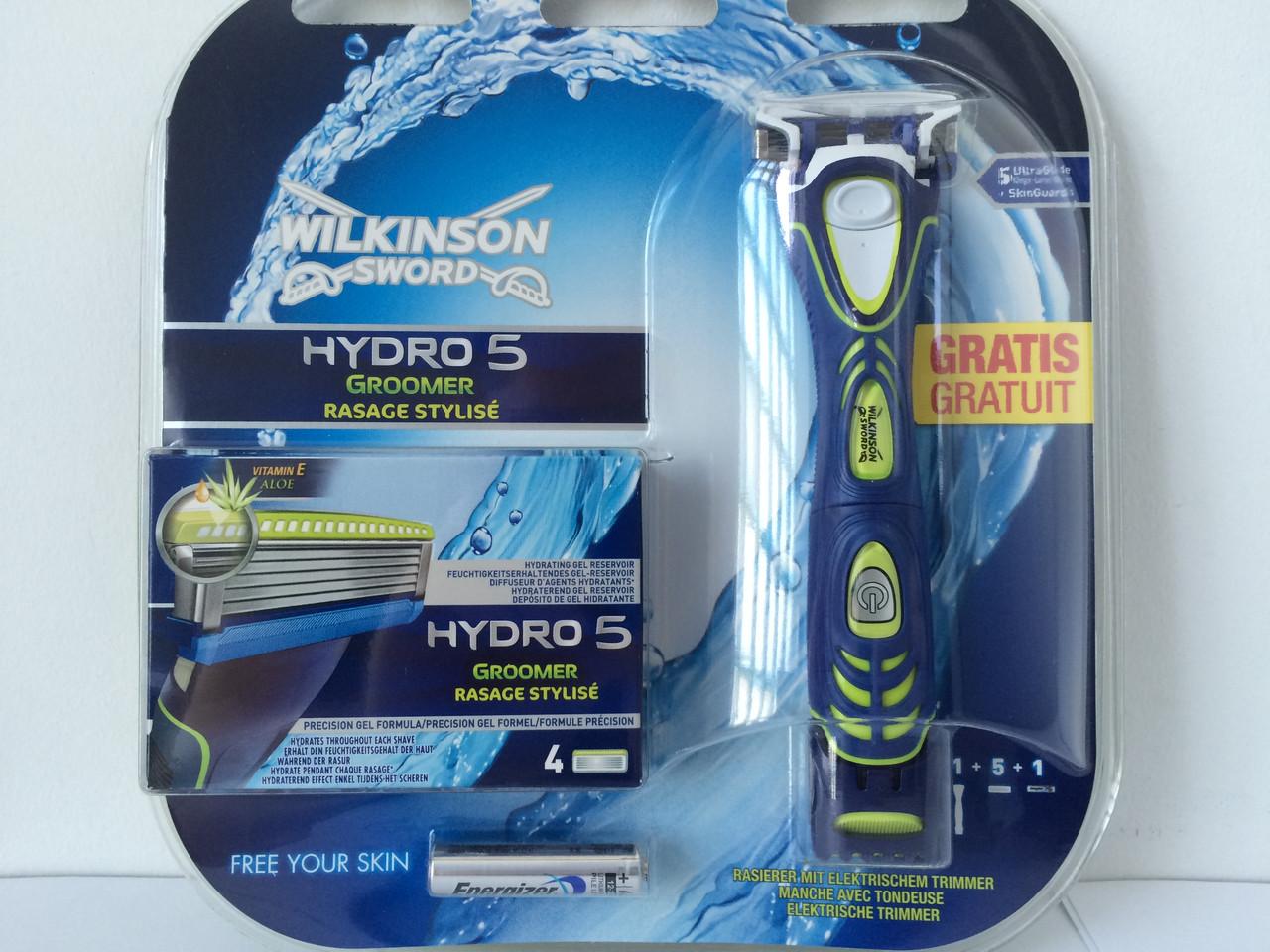 Набір для гоління чоловічий Wilkinson Sword Hydro 5 Groomer (Шик Вілкінсон Грумер тример + 5 картриджів) Німеччина