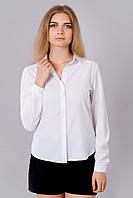 Белая женская рубашка с длинным рукавом