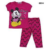 Летний костюм Mickey Mouse для девочки. 4 года, фото 1