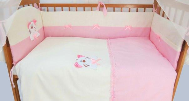 Детский постельный комплект «Совушка/Тигрик» (6 элементов), EkoBaby