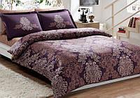 Набор постельного  белья TAC DELUX-Satin семейный  PAVONA V07