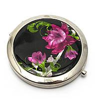 Зеркало косметическое Цветы
